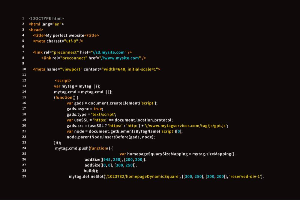 o que é código html