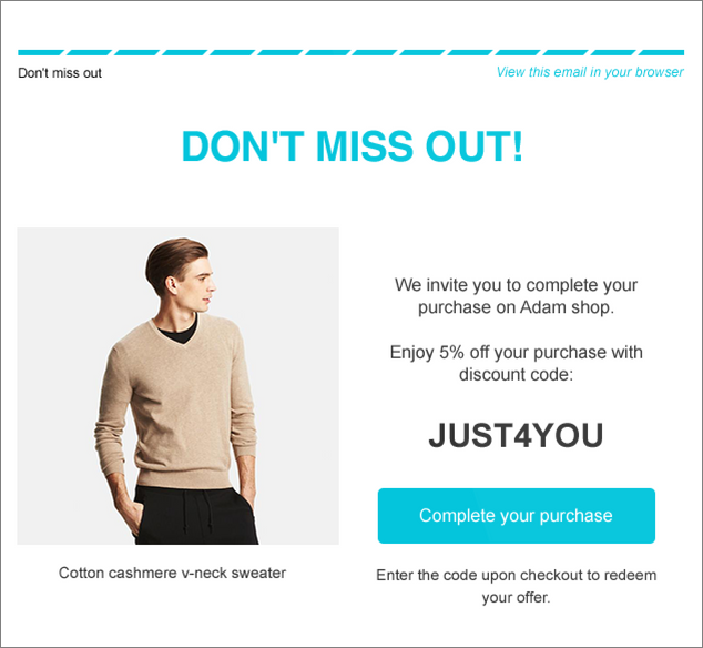 power of de personalized marketing email example