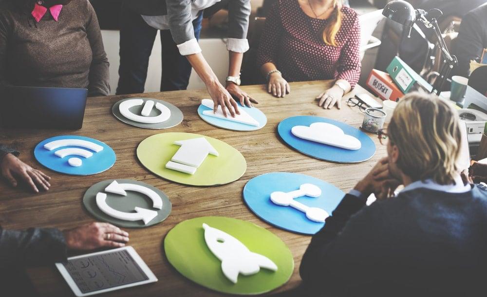 equipe de empresa de markting digital