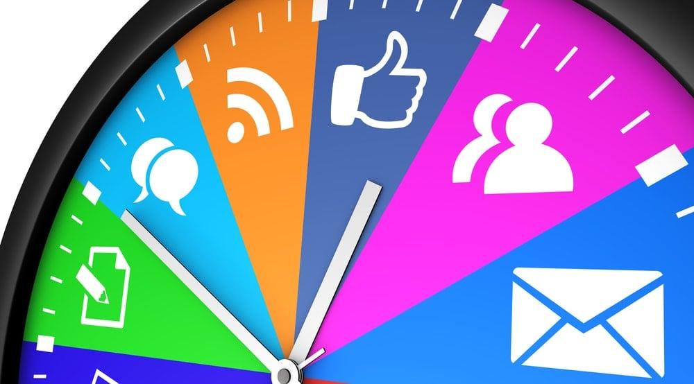 horário de postagens no gerenciamento de redes sociais