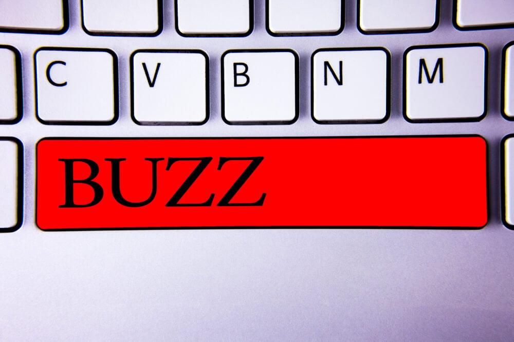 ilustraçao da palavra buzz em tecla de teclado