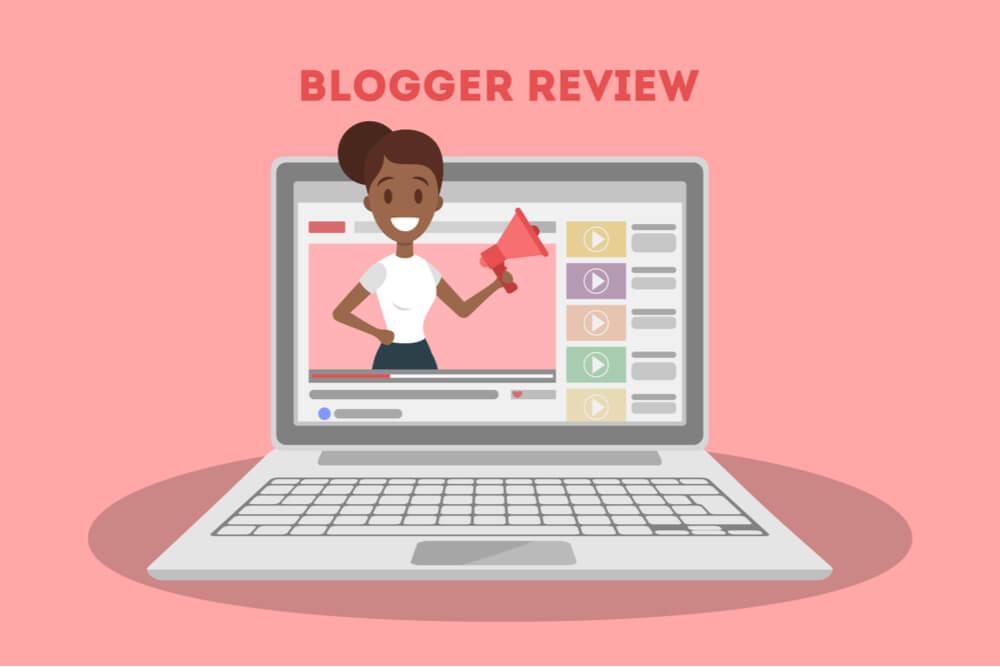 ilustraçao de laptop em fundo rosa no site youtube