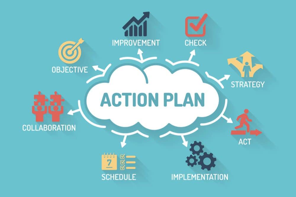 ilustração sobre plano de ação