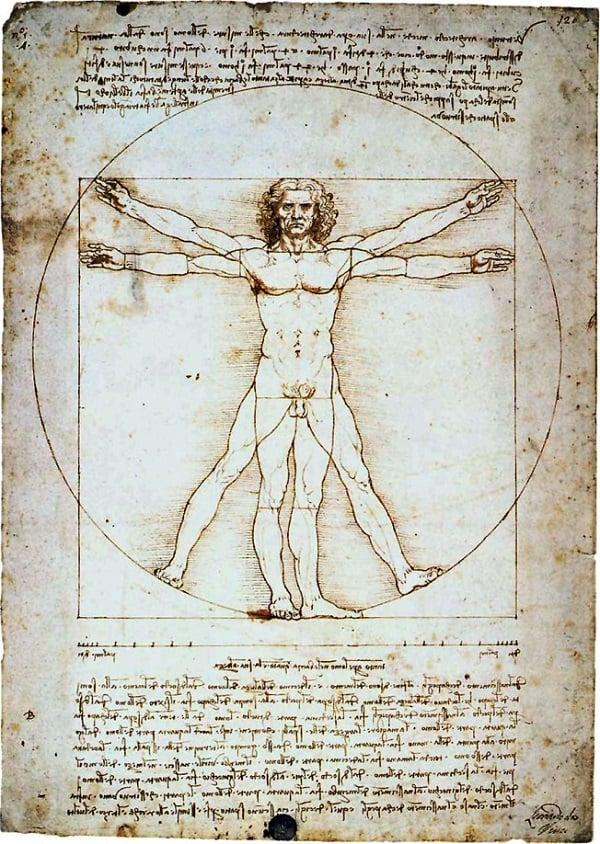 infográfico de Leonardo da Vinci