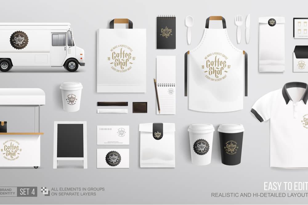 materiais customizados com identidade visual de marca