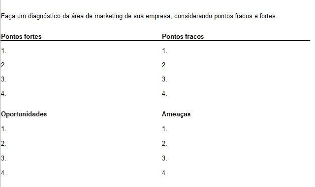 plano de marketing modelo pronto