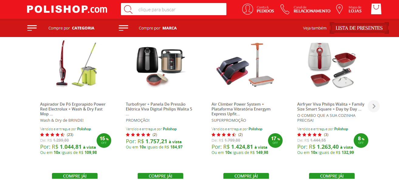 site da empresa polishop referencia em marketing multinivel