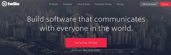 site twilio como exemplo de ideia criativa na web