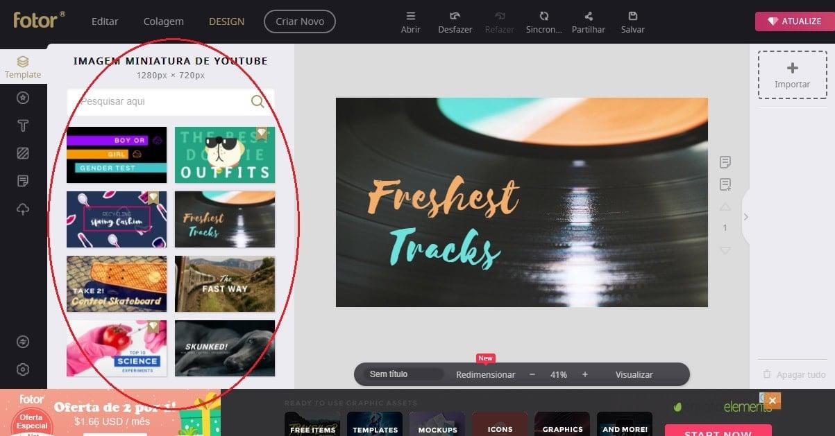 thumbnail fotor templates