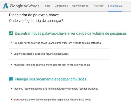 ferramenta google ads