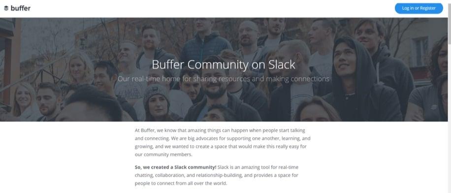 buffer community for slack