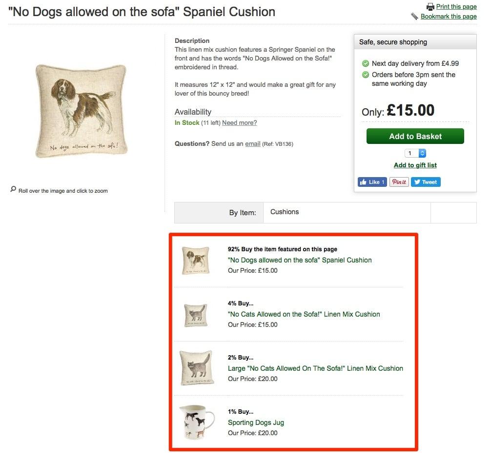 ecommerce similar items personalization