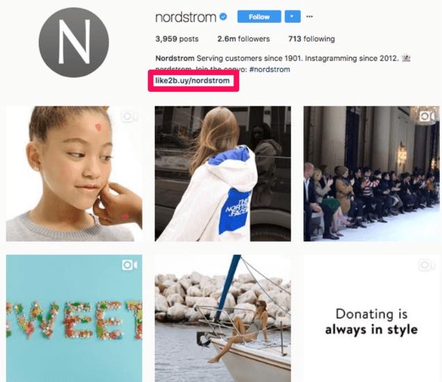 exemplo de feed de comnpras da empresa nordstrom