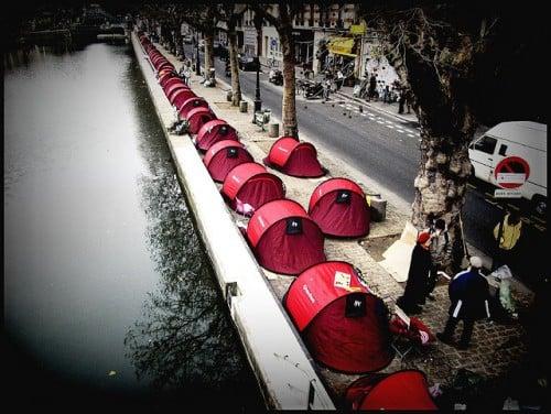 marketing de guerrilha urbano do projeto medicins du monde