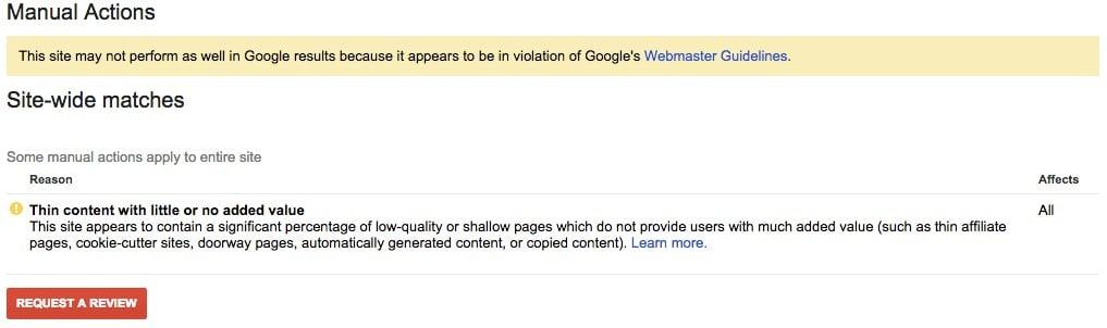thin content google