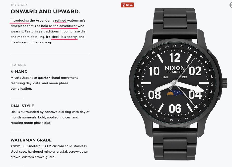 Ascender Men s Watches Nixon Watches and Premium Accessories