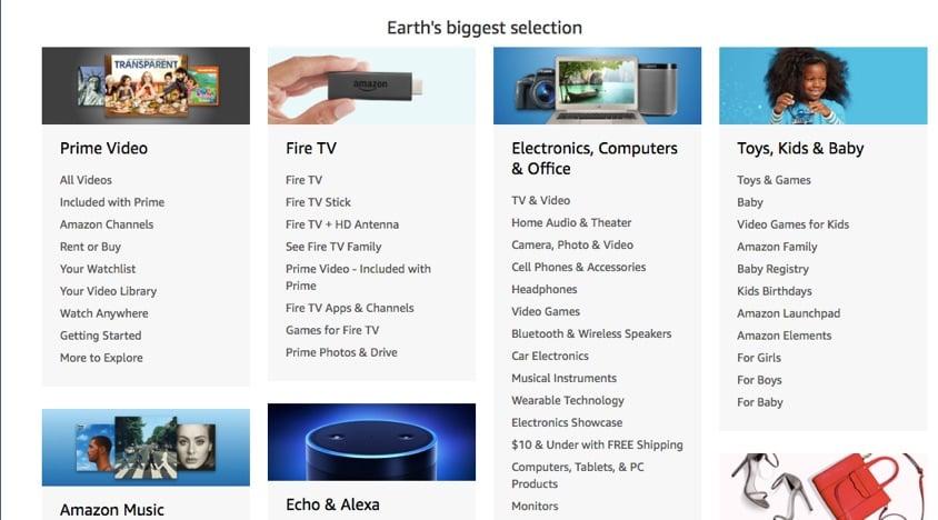 amazon store directory