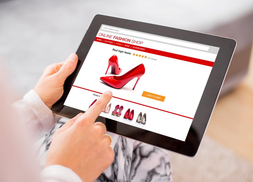 aparência de site de vendas online