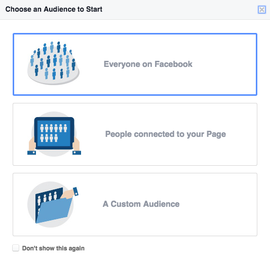 choose an audience to start