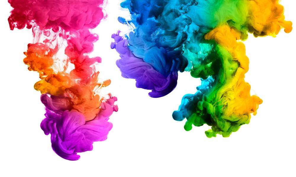 cores em aspecto líquido