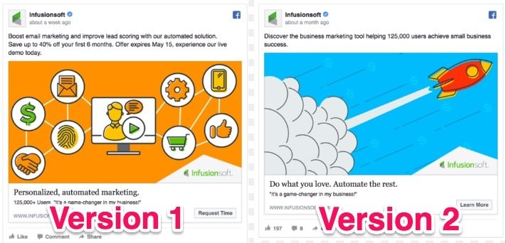 infusionsoft facebook ads