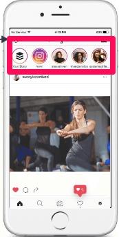 instagram stories em destaque em smartphone acessando a rede social