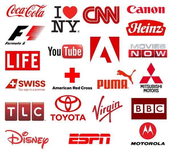logo tipos de empresas que utilizam vermelho