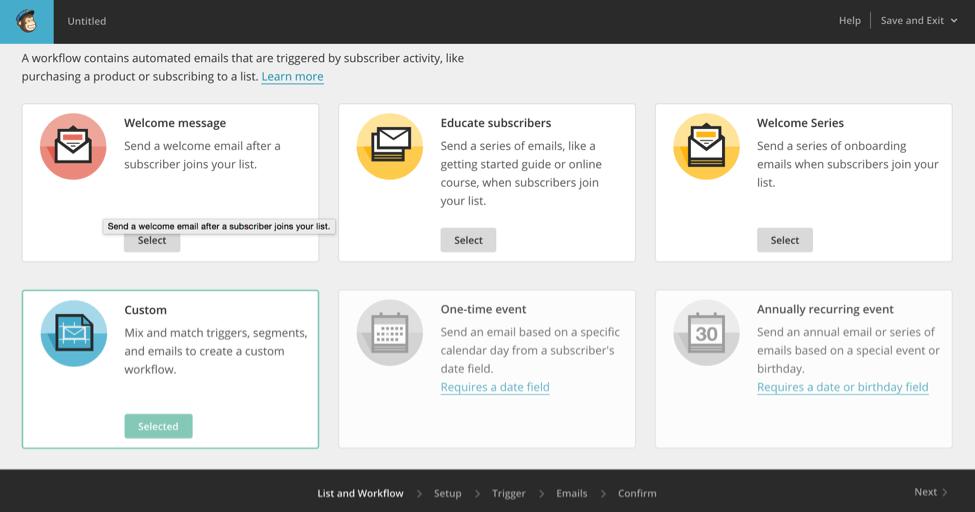 mailchimp automate