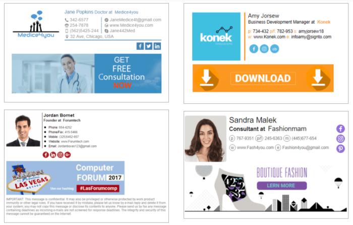 modelos e exemplos de assinatura de e-mails newoldstamp