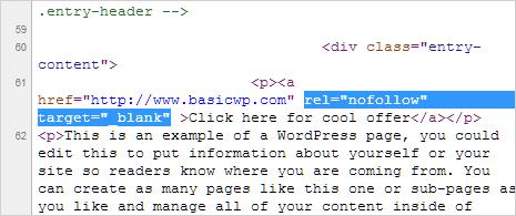 nofollow html tag