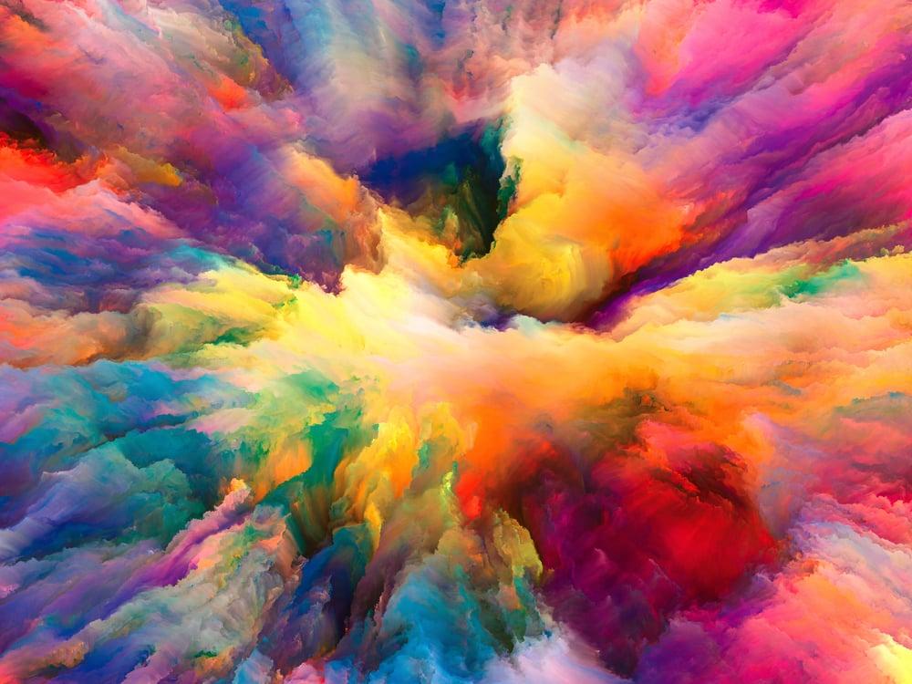 nuvem de várias cores