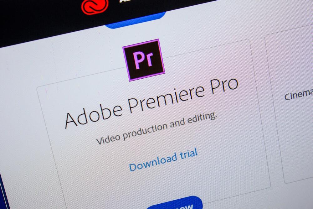 opçao baixar programa adobe premiere para ediçao de videos