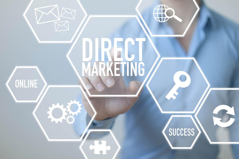 termos e simbolos referentes ao marketing direto