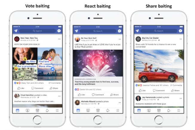 baiting on facebook