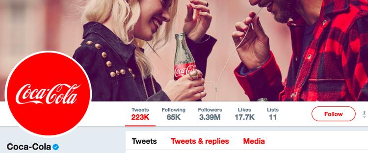 coca cola twitter