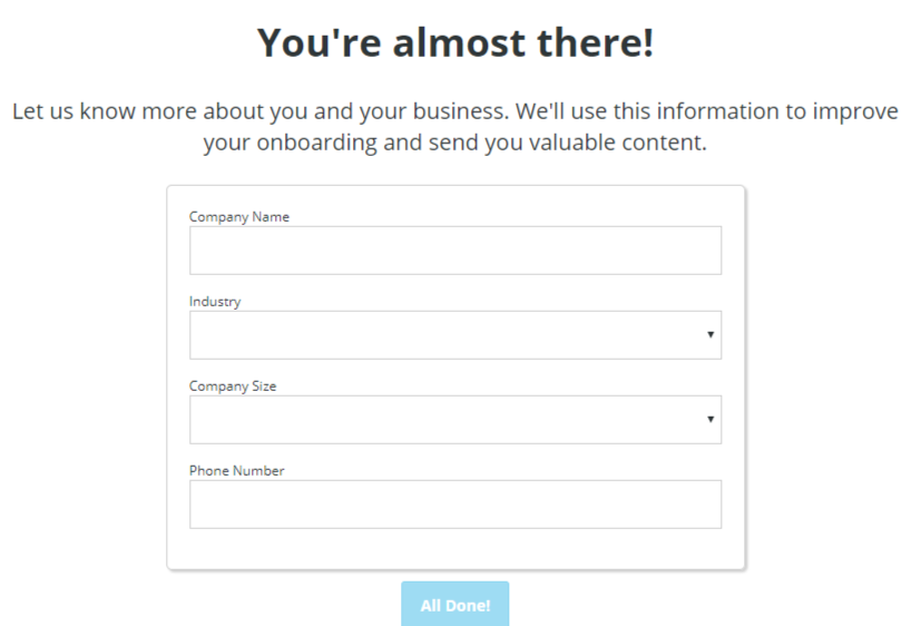 final hootsuite signup step