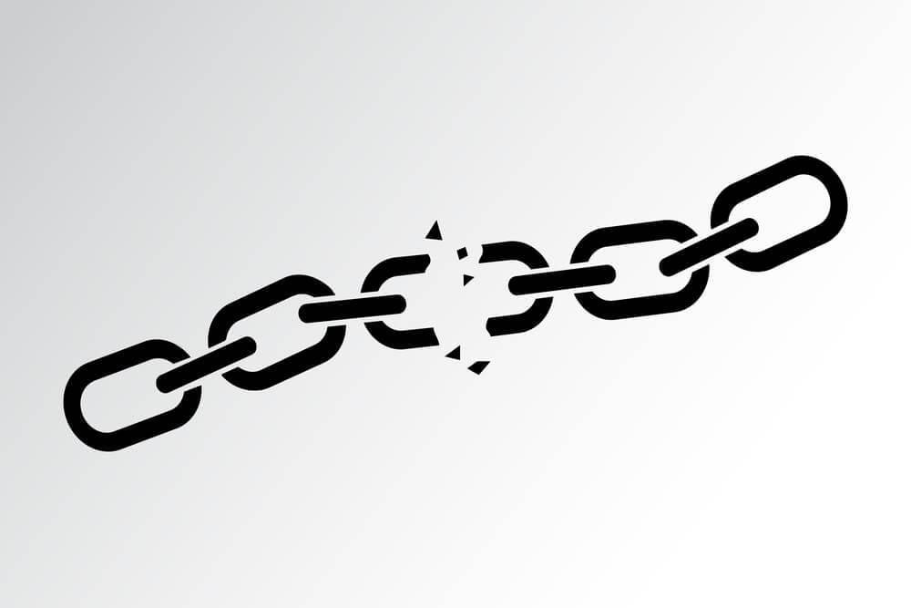 ilustração representando links quebrados