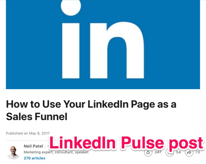 neil patel linkedin pulse post