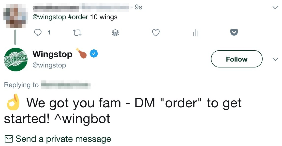 wingstop dm your order