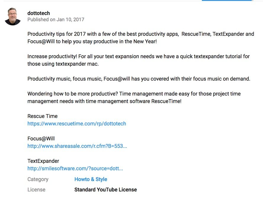 dottotech youtube video description
