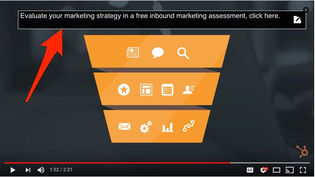 hubspot youtube video has link