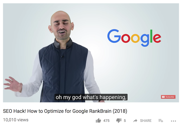 rankbrain youtube