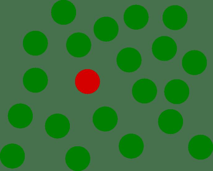 destaque da cor vermelha