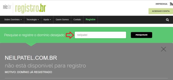 ba83dae7d543 Escolhido o domínio, você precisa saber que existem entidades responsáveis  por registrá-lo.