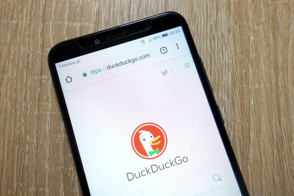 pagina inicial versao mobile site de buscas duck duck go