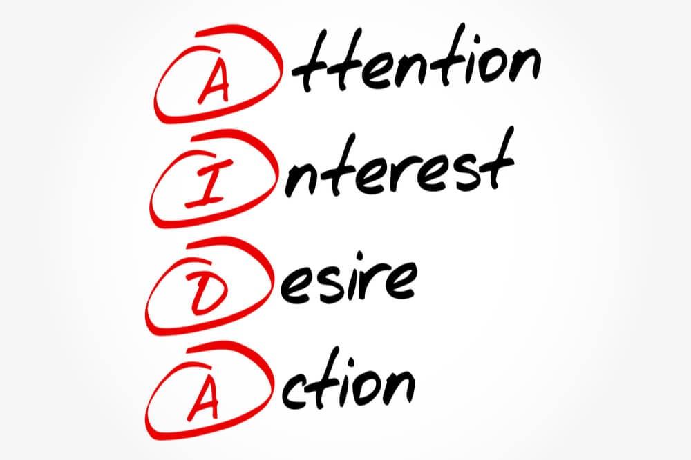 4 etapas do modelo AIDA