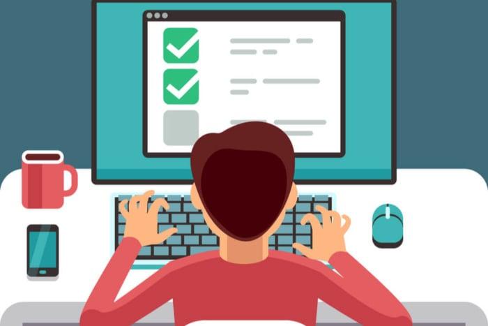ilustração sobre responder pesquisar online