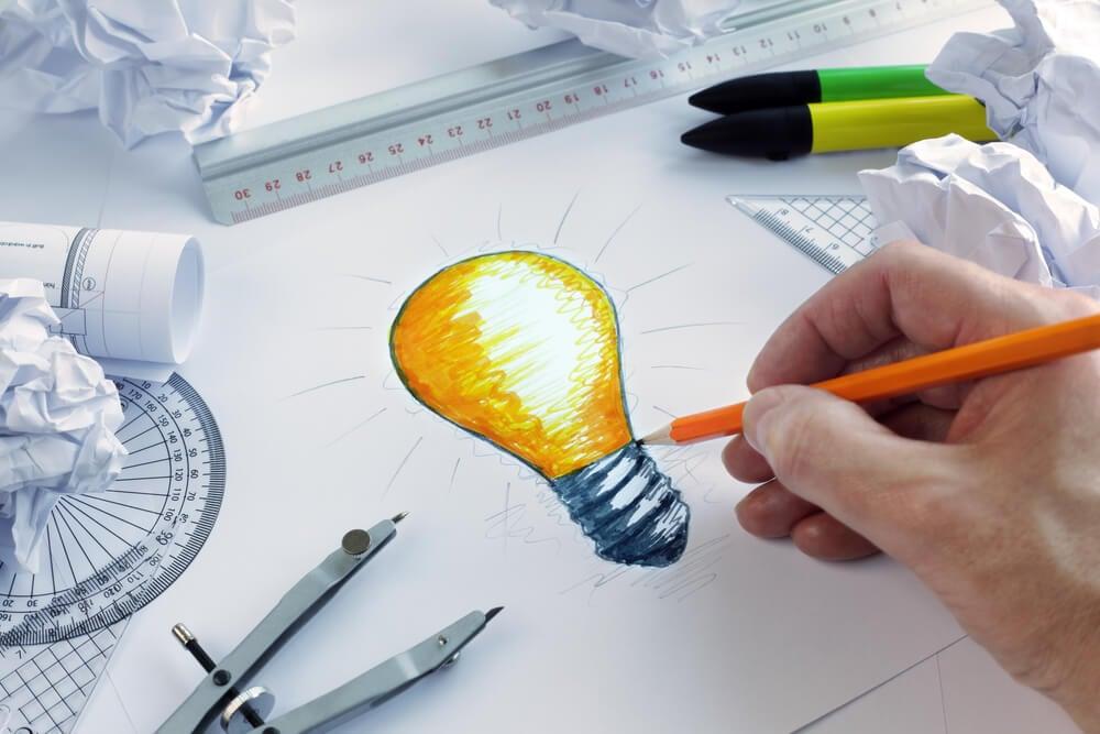 ilustração sobre criatividade