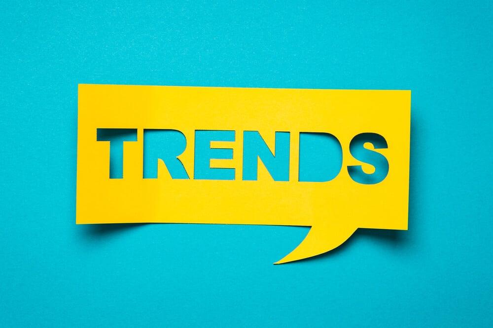 ilustração sobre tendências