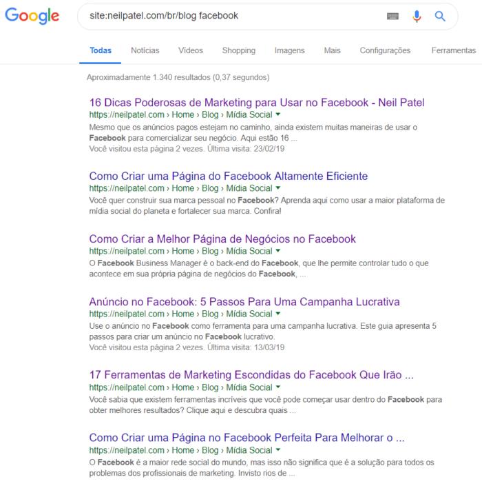 pesquisa avançada no google com o operador site e dois pontos